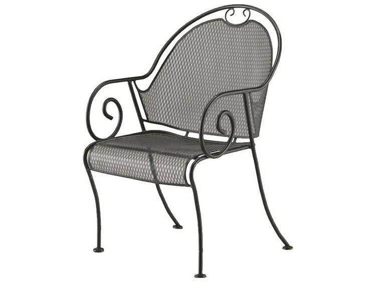 Woodard Cantebury Wrought Iron Barrel Dining Chair