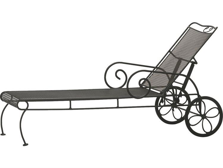 Woodard Cantebury Wrought Iron Chaise Lounge