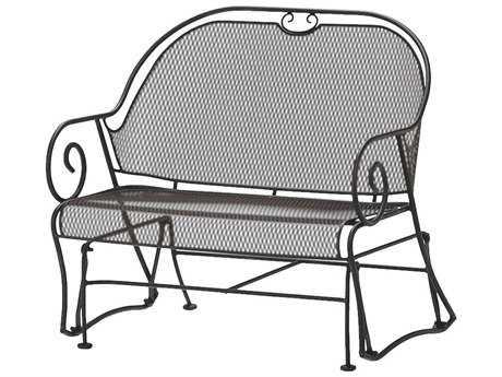 Woodard Cantebury Wrought Iron Gliding Barrel Loveseat