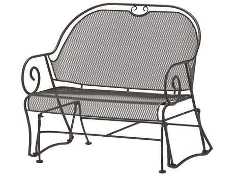 Woodard Cantebury Wrought Iron Gliding Barrel Loveseat