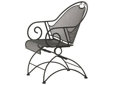 Woodard Cantebury Wrought Iron Coil Spring Barrel Chair