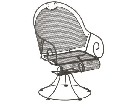 Woodard Cantebury Wrought Iron Barrel Swivel Rocker