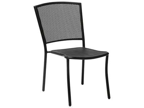 Woodard Albion Wrought Iron Side Chair in Mercury Finish