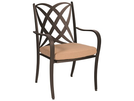 Woodard Apollo Cast Aluminum Dining Chair with Cushion