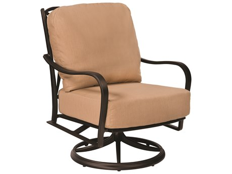 Woodard Apollo Cast Aluminum Swivel Rocker Lounge Chair
