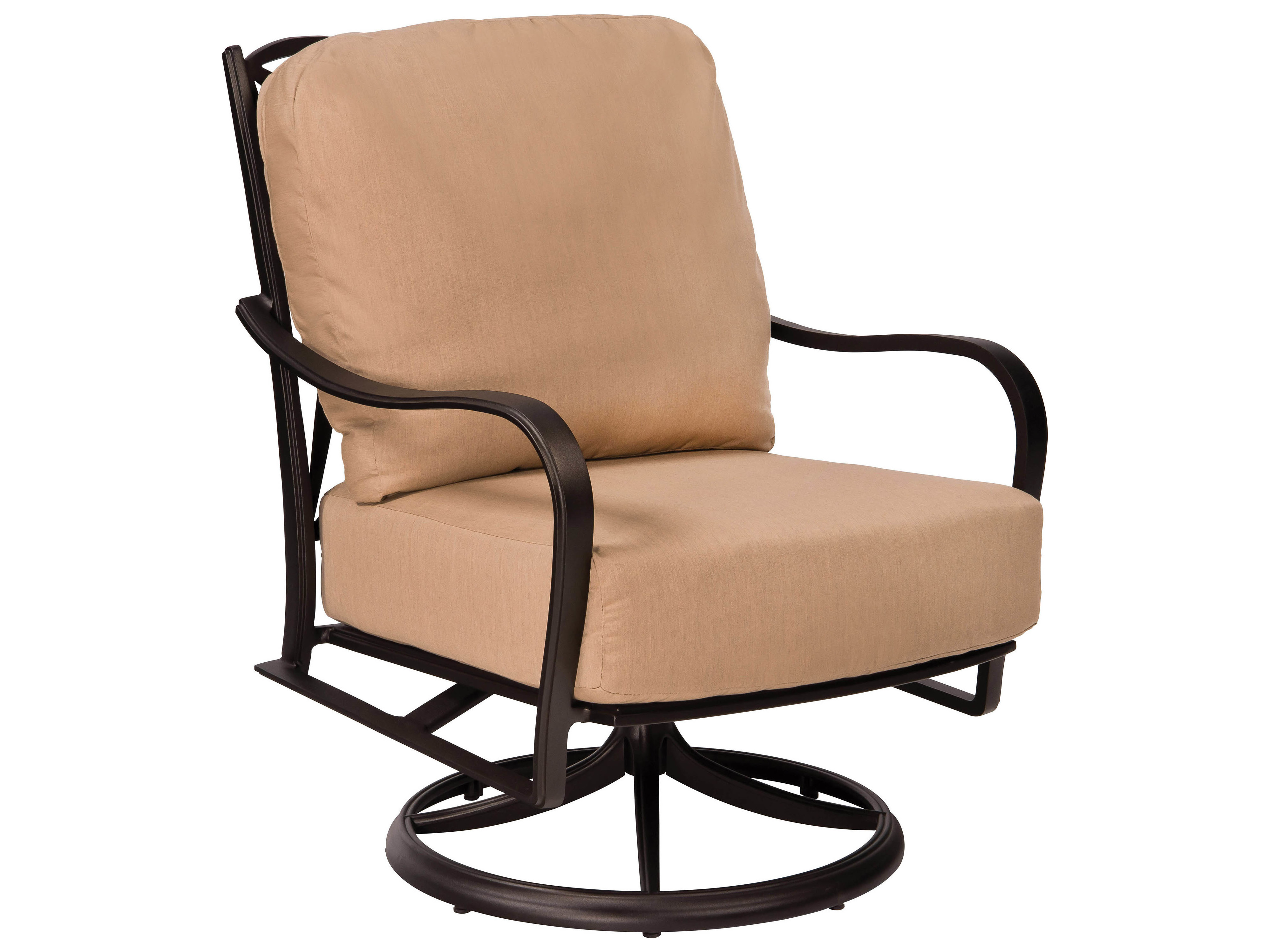 Woodard Apollo Cast Aluminum Swivel Rocker Lounge Chair 7u0477