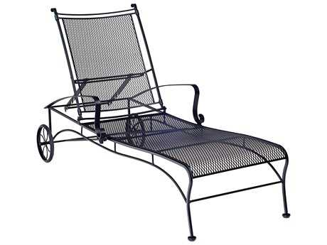 Woodard Bradford Mesh Wrought Iron Adjustable Chaise