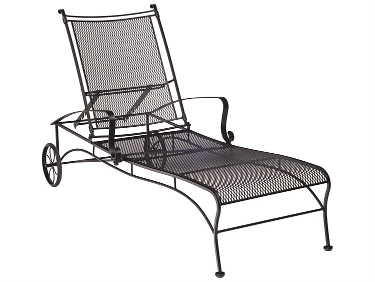 Woodard Bradford Mesh Wrought Iron Chaise