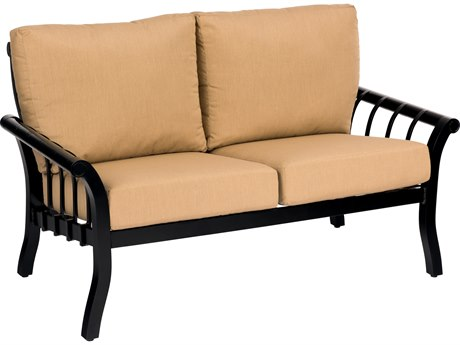 Woodard Rhyss Aluminum Cushion Loveseat
