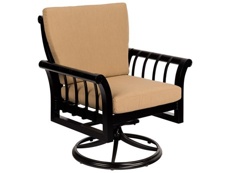 Woodard Rhyss Aluminum Cushion Swivel Rocking Dining Arm Chair