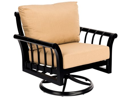 Woodard Rhyss Aluminum Cushion Swivel Rocking Lounge Chair