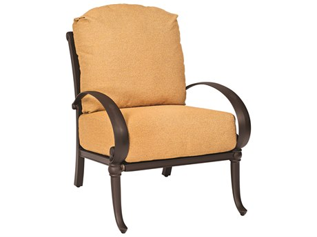 Woodard Holland Cast Aluminum Cushion Lounge Chair