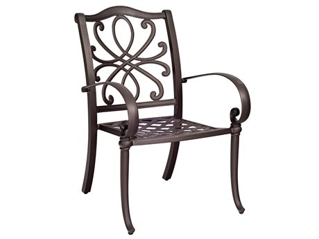 Woodard Holland Aluminum Dining Arm Chair with Cushion
