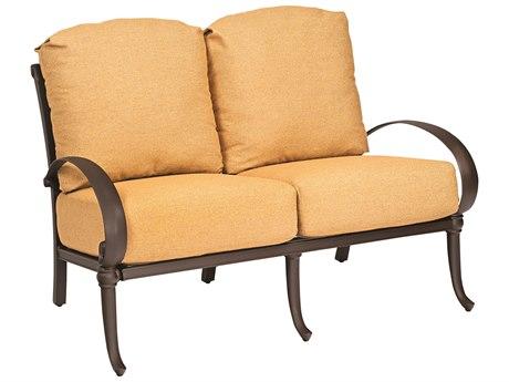 Woodard Holland Cast Aluminum Cushion Loveseat