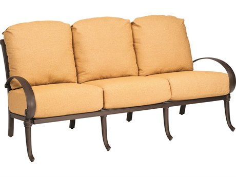 Woodard Holland Cast Aluminum Cushion Sofa