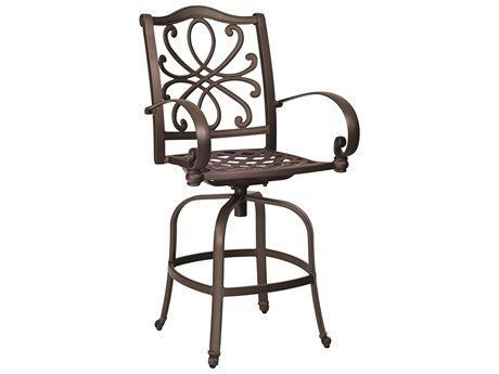 Woodard Holland Cast Aluminum Swivel Bar Stool