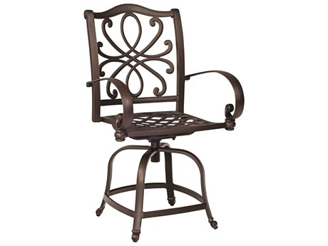 Woodard Holland Cast Aluminum Swivel Counter Stool