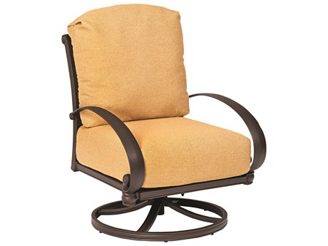 Woodard Holland Cast Aluminum Cushion Swivel Rocker Lounge Chair