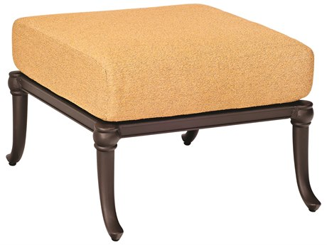 Woodard Holland Cast Aluminum Cushion Ottoman