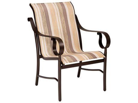Woodard Ridgecrest Sling Aluminum Low Back Dining Chair