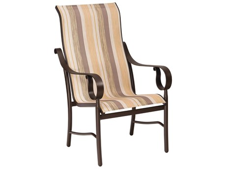 Woodard Ridgecrest Sling Aluminum High Back Dining Chair