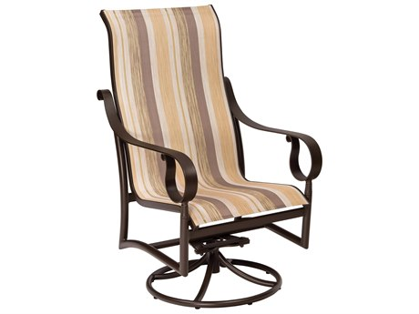 Woodard Ridgecrest Sling Aluminum High Back Swivel Rocker