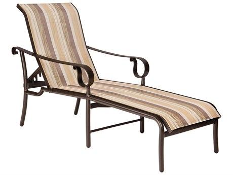 Woodard Ridgecrest Sling Aluminum Chaise Lounge