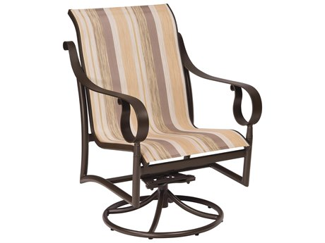 Woodard Ridgecrest Sling Aluminum Low Back Swivel Rocker