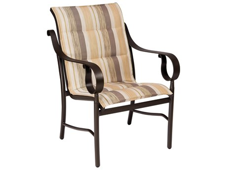Woodard Ridgecrest Padded Sling Aluminum Dining Chair