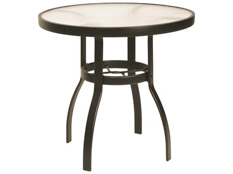 Woodard Deluxe Aluminum 30 Round Acrylic Top Dining Table