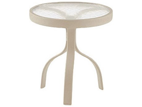 Woodard Deluxe Aluminum 18 Round Acrylic Top End Table