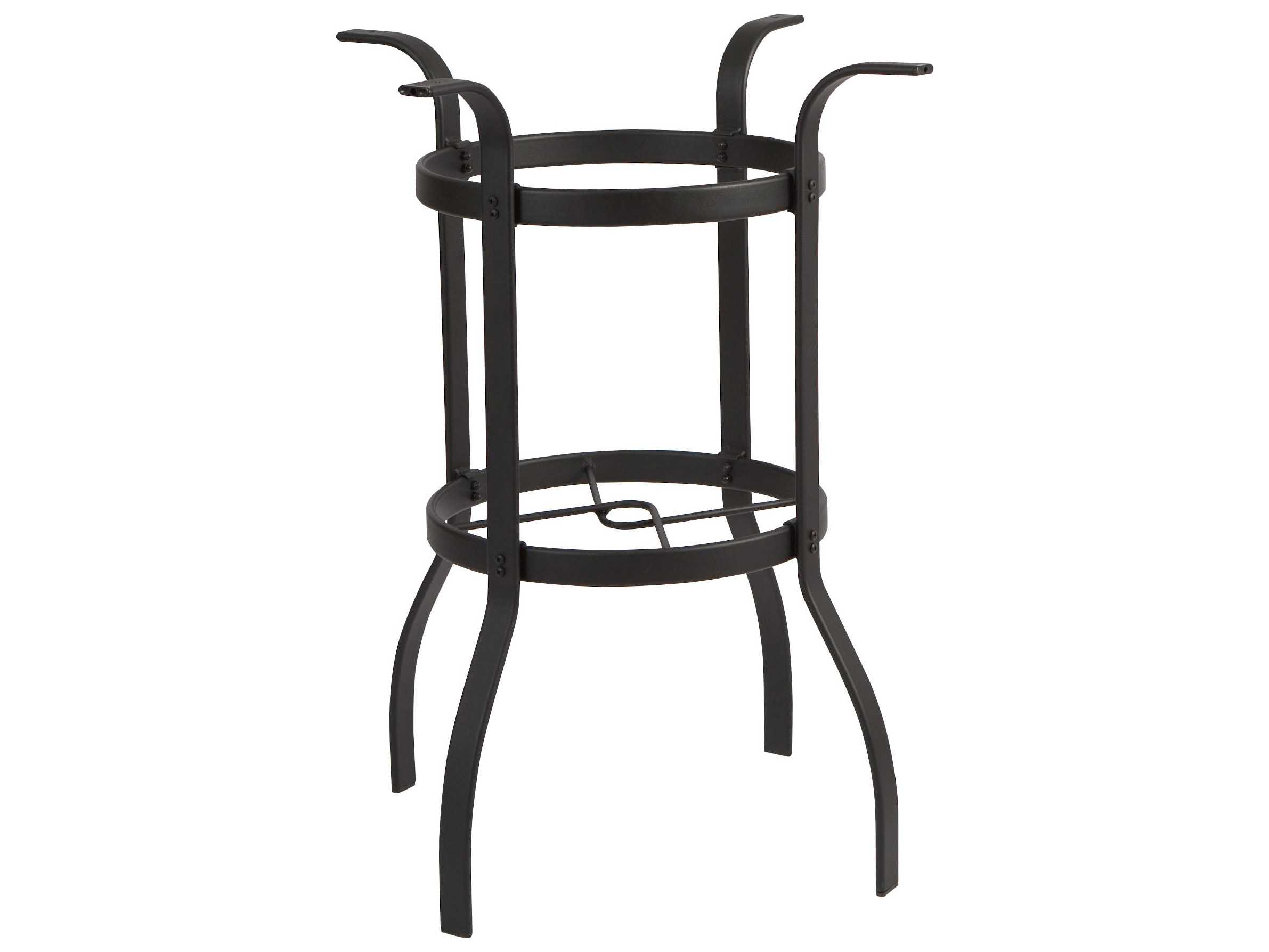 woodard deluxe bar height table base only wr82536b. Black Bedroom Furniture Sets. Home Design Ideas