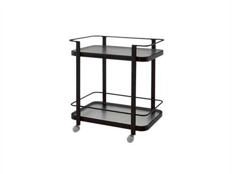 Woodard Aluminum Tables Glass Serving Cart