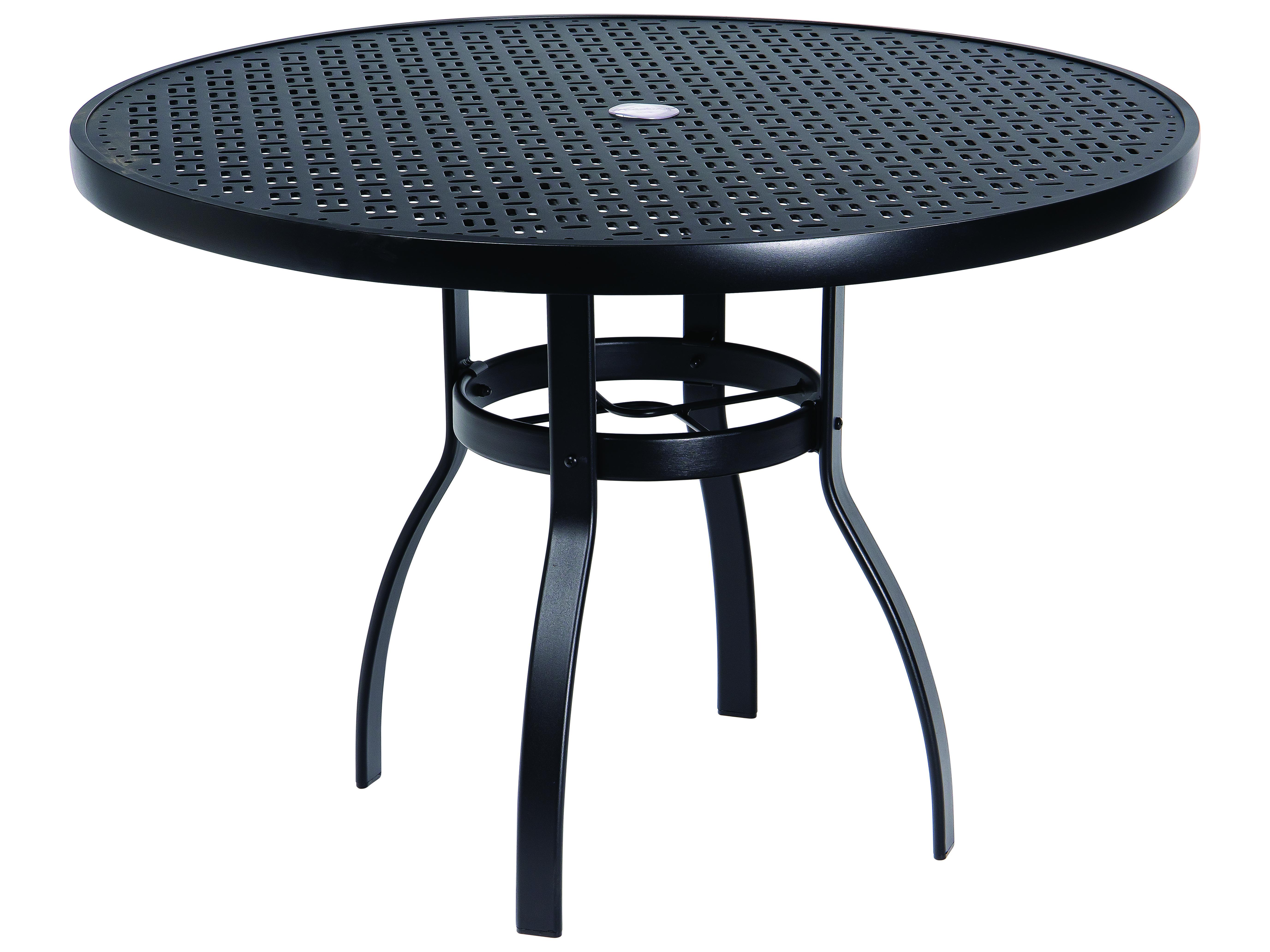 Woodard Deluxe Aluminum 42 Round Lattice Top Table With