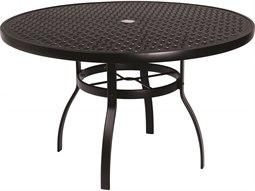 48'' Round Lattice Top Table with Umbrella Hole