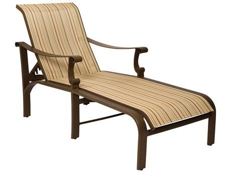 Woodard Bungalow Sling Aluminum Chaise Lounge