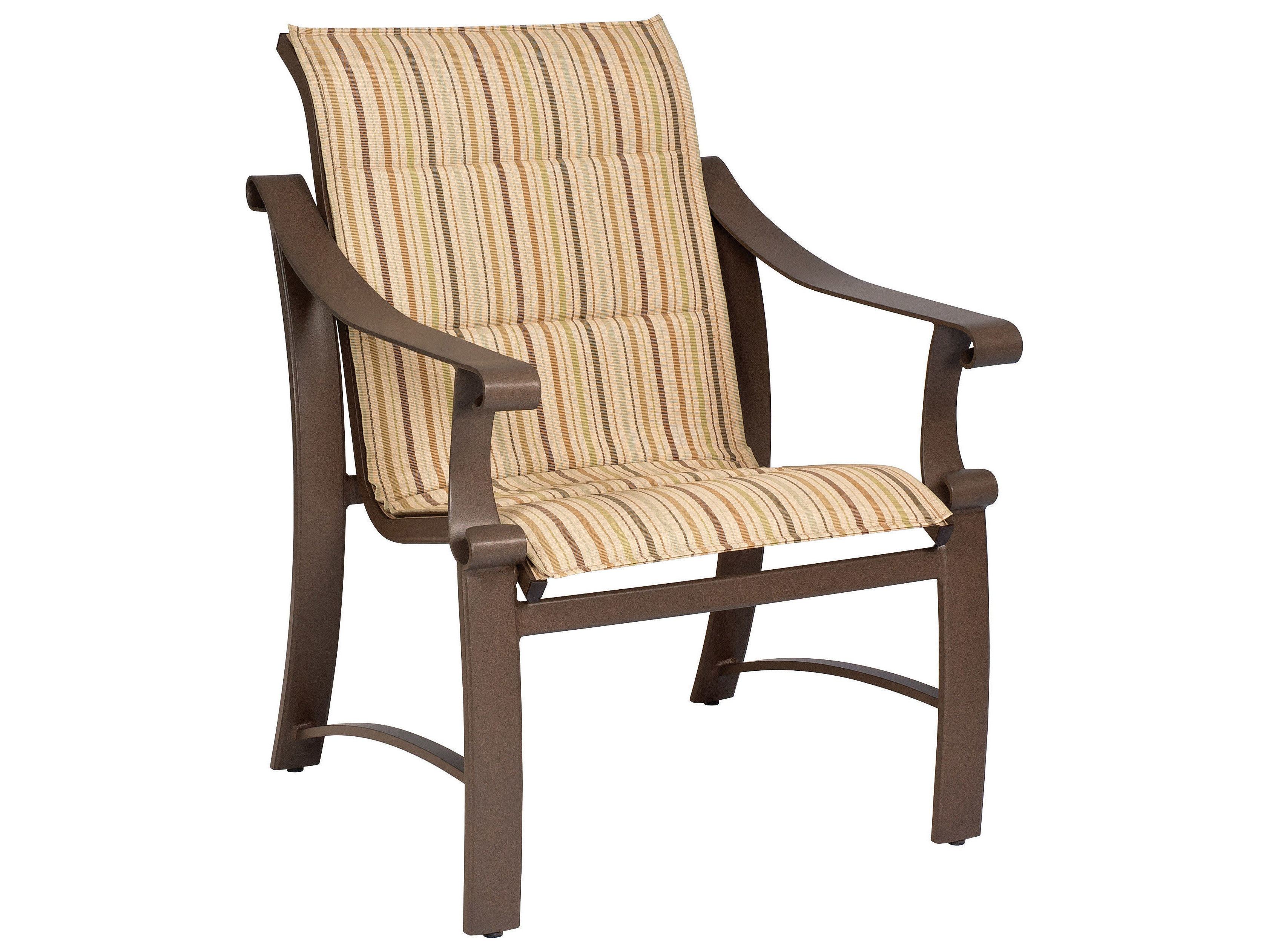Woodard Bungalow Padded Sling Aluminum Dining Chair 830501