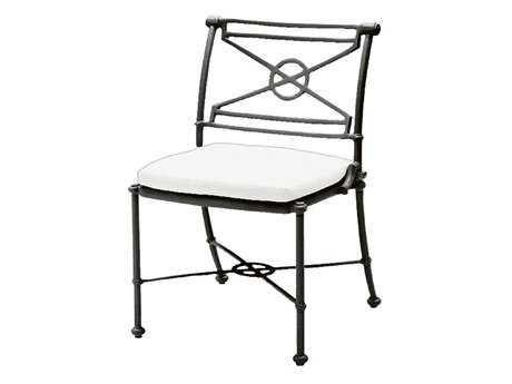 Woodard Delphi Cast Aluminum Cushion Side Dining Chair