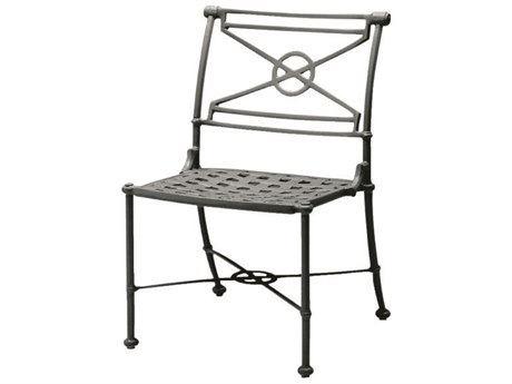 Woodard Delphi Cast Aluminum Cushion Dining Side Chair PatioLiving