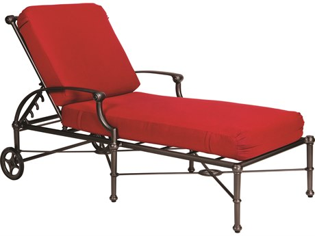 Woodard Delphi Cast Aluminum Cushion Adjustable Chaise Lounge