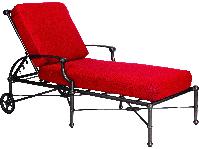 Woodard Delphi Cast Aluminum Cushion Chaise Lounge 850470