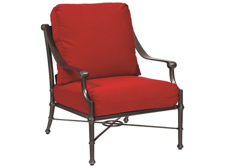 Woodard Delphi Cast Aluminum Cushion Lounge Chair