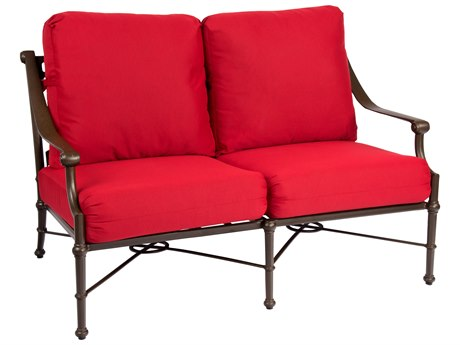 Woodard Delphi Cast Aluminum Cushion Loveseat