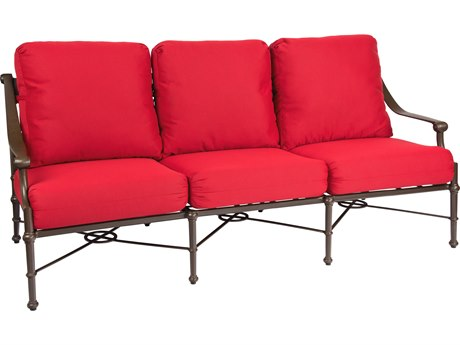 Woodard Delphi Cast Aluminum Cushion Sofa