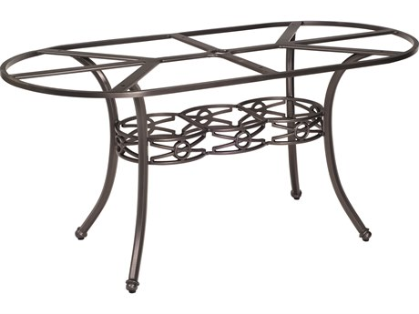 Woodard Delphi Cast Aluminum Large Oval Dining Table Base