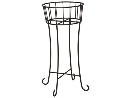 Woodard Wrought Iron Round Planter PatioLiving