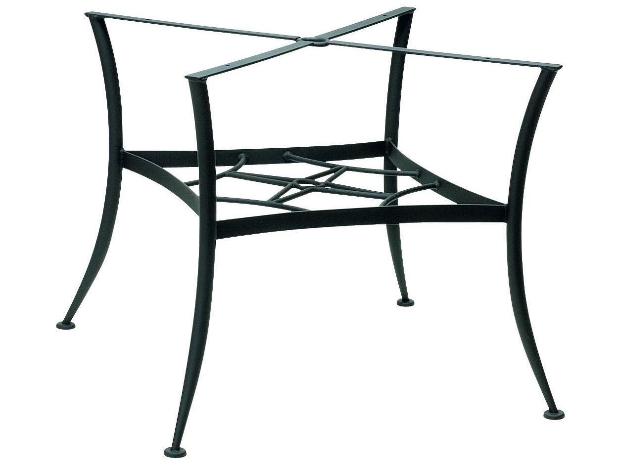 Woodard universal wrought iron dining table base only for Outdoor table bases wrought iron