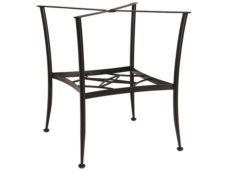 Woodard Wrought Iron Square Gathering Table Base