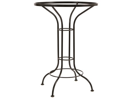 Woodard Wrought Iron Universal Round Bar Height Table Base PatioLiving