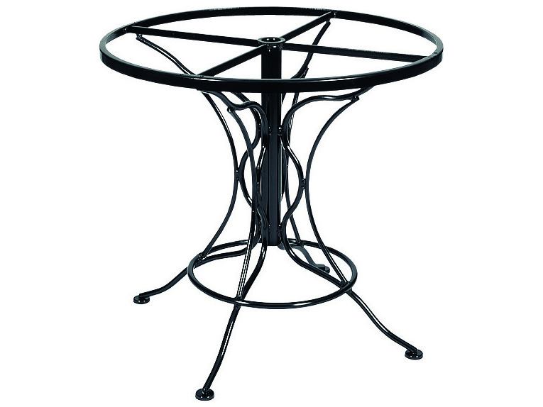 Woodard Universal Wrought Iron Dining Table Base Only Wr88f336